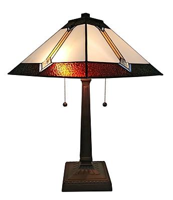 Amora Lighting Tiffany Style 2 Bulb Table Lamp, 21