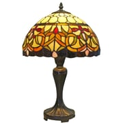 "Amora Lighting Tiffany Style 1 Bulb Table Lamp, 19""H x 12""W (AM018TL12)"