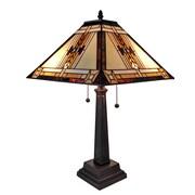 "Amora Lighting Tiffany Style 2 Bulb Table Lamp, 22""H x 14""W (AM099TL14)"