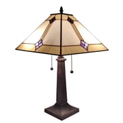 "Amora Lighting Tiffany Style 2 Bulb Table Lamp, 23""H x 13""W (AM098TL13)"