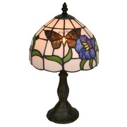 "Amora Lighting Tiffany Style 1 Bulb Table Lamp, 15""H x 8""W (AM210TL08)"