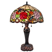 "Amora Lighting Tiffany Style 2 Bulb Table Lamp, 25""H x 16""W (AM101TL16)"