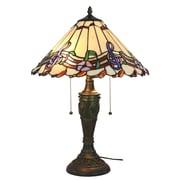 "Amora Lighting Tiffany Style 2 Bulb Table Lamp, 24""H x 16""W (AM1101TL16)"