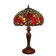"Amora Lighting Tiffany Style 2 Bulb Table Lamp, 24""H x 16""W (AM1535TL16)"