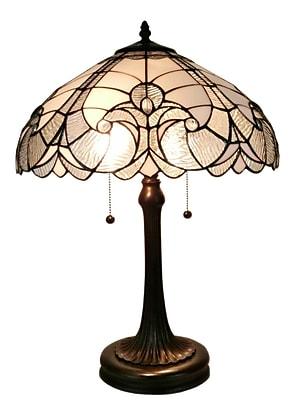 Amora Lighting Tiffany Style 2 Bulb Table Lamp, 23