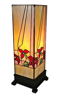 "Amora Lighting Tiffany Style 1 Bulb Table Lamp, 15.7""H x 5.25""W (AM217TL06)"