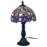 "Amora Lighting Tiffany Style 1 Bulb Table Lamp, 15""H x 8""W (AM1076TL08)"