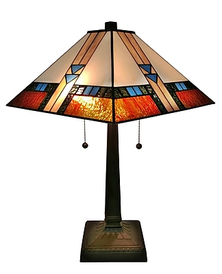 Amora Lighting Tiffany Style 1 Bulb Table Lamp, 23