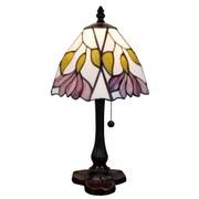 "Amora Lighting Tiffany Style 1 Bulb Table Lamp, 15.5""H x 15.5""W (AM016TL08)"