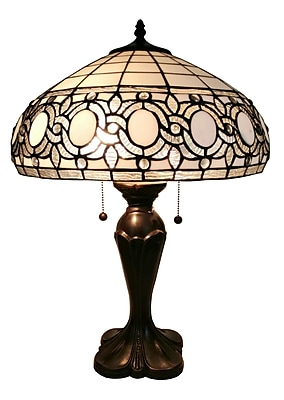Amora Lighting Tiffany Style 2 Bulb Table Lamp, 24