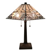 "Amora Lighting Tiffany Style 2 Bulb Table Lamp, 22""H x 14""W (AM312TL14)"
