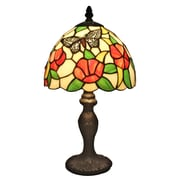 "Amora Lighting Tiffany Style 1 Bulb Table Lamp, 14.5""H x 8""W (AM046TL08)"