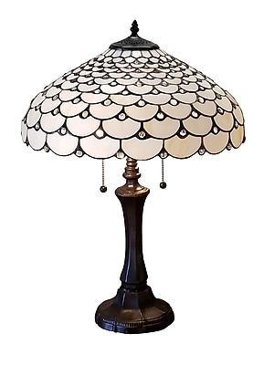 Amora Lighting Tiffany Style 3 Bulb Table Lamp 25 H X 18 W