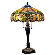 "Amora Lighting Tiffany Style 2 Bulb Table Lamp, 25""H x 16""W (AM1071TL16)"