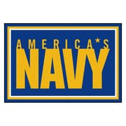 FANMATS U.S. Navy Nylon 5x8 Rug, Multi-Colored (7191)