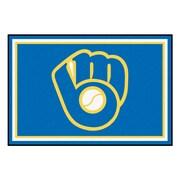 FANMATS MLB - Milwaukee Brewers Nylon 5x8 Rug, Multi-Colored (16844)