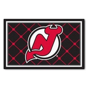 FANMATS NHL - New Jersey Devils Nylon 4x6 Rug, Multi-Colored (10421)