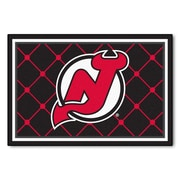 FANMATS NHL - New Jersey Devils Nylon 5x8 Rug, Multi-Colored (10422)