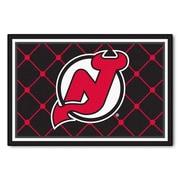FANMATS NHL - New Jersey Devils Nylon 5x8 Rug, Multi-Colored (10422)