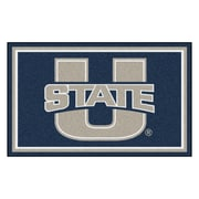 FANMATS Utah State University Nylon 4x6 Rug, Multi-Colored (20286)