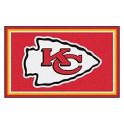 FANMATS NFL - Kansas City Chiefs Nylon 4x6 Rug, Multi-Colored (6586)
