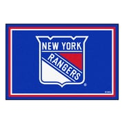 FANMATS NHL - New York Rangers Nylon 5x8 Rug, Multi-Colored (10478)