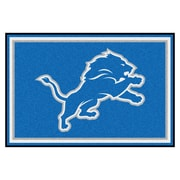 FANMATS NFL - Detroit Lions Nylon 5x8 Rug, Multi-Colored (6574)