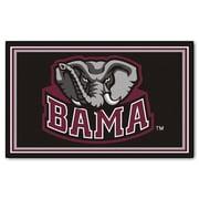 FANMATS University of Alabama Nylon 4x6 Rug, Multi-Colored (6276)