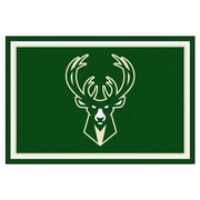 FANMATS NBA - Milwaukee Bucks Nylon 5x8 Rug, Multi-Colored (9323)