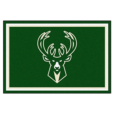 FANMATS NBA - Milwaukee Bucks Nylon 5x8 Rug, Multi-Colored (9323)