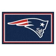 FANMATS NFL - New England Patriots Nylon 4x6 Rug, Multi-Colored (6268)