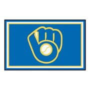 FANMATS MLB - Milwaukee Brewers Nylon 4x6 Rug, Multi-Colored (16843)