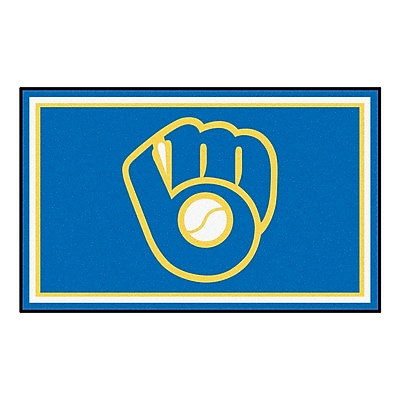 FANMATS MLB - Milwaukee Brewers Nylon 4x6 Rug, Multi-Colored (16843)