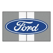 FANMATS Ford - Ford Oval with Stripes Nylon 4x6 Rug, Multi-Colored (16129)