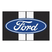 FANMATS Ford - Ford Oval with Stripes Nylon 4x6 Rug, Multi-Colored (16130)