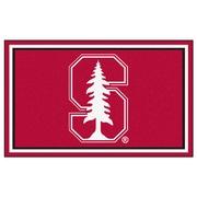 FANMATS Stanford University Nylon 4x6 Rug, Multi-Colored (6799)