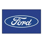 FANMATS Ford - Ford Oval Nylon 4x6 Rug, Multi-Colored (16052)