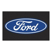 FANMATS Ford - Ford Oval Nylon 4x6 Rug, Multi-Colored (16055)