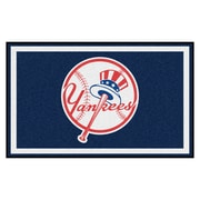 FANMATS MLB - New York Yankees Nylon 4x6 Rug, Multi-Colored (22342)