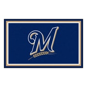 FANMATS MLB - Milwaukee Brewers Nylon 4x6 Rug, Multi-Colored (7067)