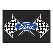 FANMATS Ford - Ford Flags Nylon 5x8 Rug, Multi-Colored (15841)