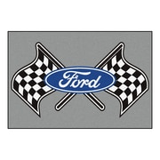 FANMATS Ford - Ford Flags Nylon 5x8 Rug, Multi-Colored (15840)