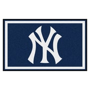 FANMATS MLB - New York Yankees Nylon 4x6 Rug, Multi-Colored (6961)