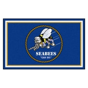 FANMATS U.S. Navy - SEABEES Nylon 4x6 Rug, Multi-Colored (22953)