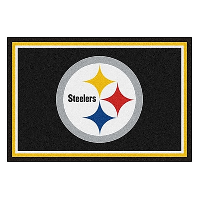 FANMATS NFL - Pittsburgh Steelers Nylon 5x8 Rug, Multi-Colored (6319)