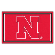FANMATS University of Nebraska Nylon 4x6 Rug, Multi-Colored (6652)