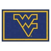 FANMATS West Virginia University Nylon 5x8 Rug, Multi-Colored (11930)