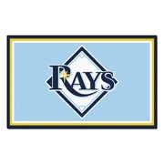 FANMATS MLB - Tampa Bay Rays Nylon 4x6 Rug, Multi-Colored (7087)