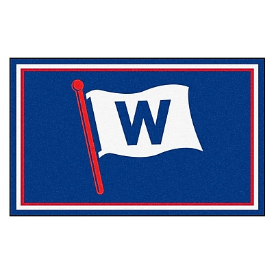 FANMATS MLB - Chicago Cubs Nylon 4x6 Rug, Multi-Colored (21905)