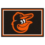FANMATS MLB - Baltimore Orioles Nylon 5x8 Rug, Multi-Colored (15179)